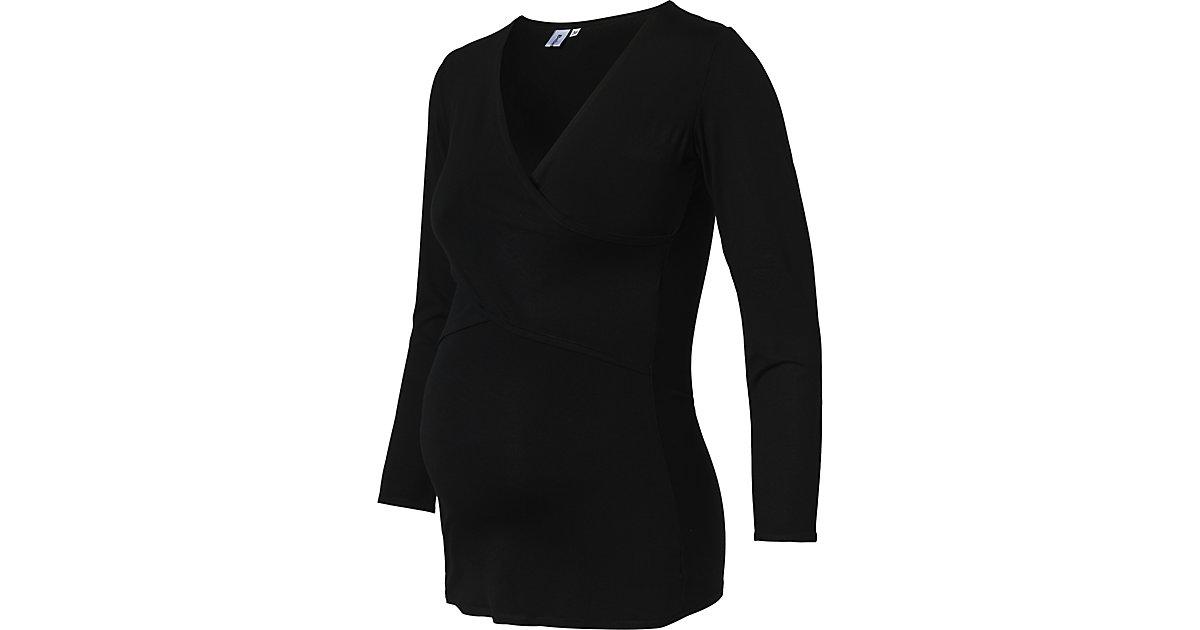 Stilllangarmshirt EVELINA für Mädchen schwarz Gr. 44 Damen Kinder
