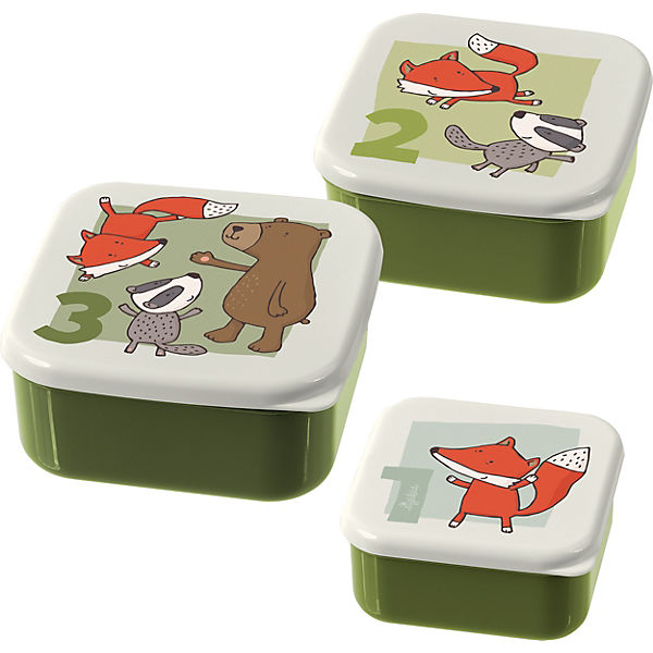 Snackboxen 3er-Set Freunde Forest (24988)