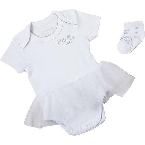 Комплект Крошка Я: боди и носочки - белый от Крошка Я