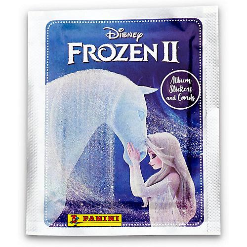 """Пакетик с наклейками Panini Hybrid """"Холодное сердце 2"""", 4 наклейки, 1 карточка от Panini"""