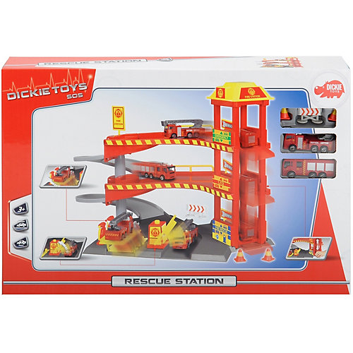 Спасательная станция Dickie Toys с машинками, 33 х 29,5 см от Dickie Toys