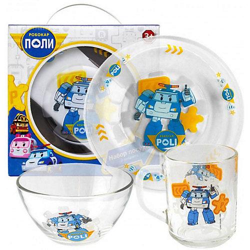 """Набор посуды ND Play """"Робокар Поли"""", 3 предмета - разноцветный от ND Play"""