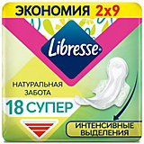 Прокладки гигиенические Libresse Natural Care Ultra Super, 18 шт