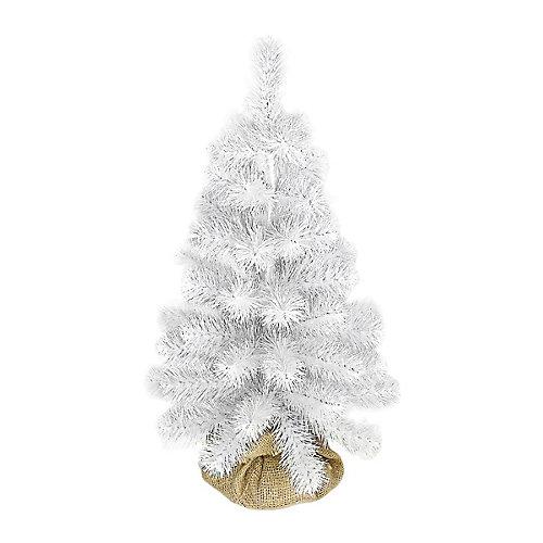 Сосна искусственная Beatrees White crystal, 0,5 м - белый от Beatrees