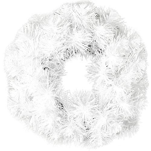Венок новогодний Morozco с блеском, 35 см - белый от Morozco