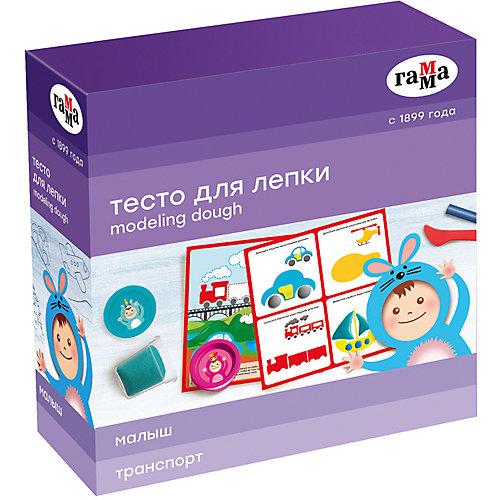 """Игровой набор теста для лепки с карточкой Гамма """"Транспорт"""", 5 цветов от ГАММА"""