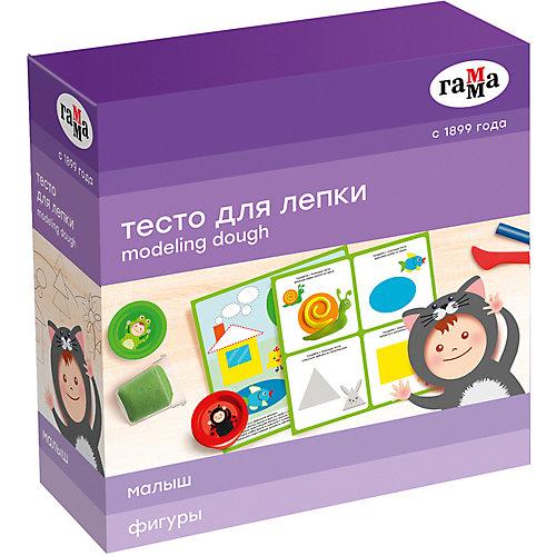 """Игровой набор теста для лепки с карточкой Гамма """"Фигуры"""", 5 цветов от ГАММА"""