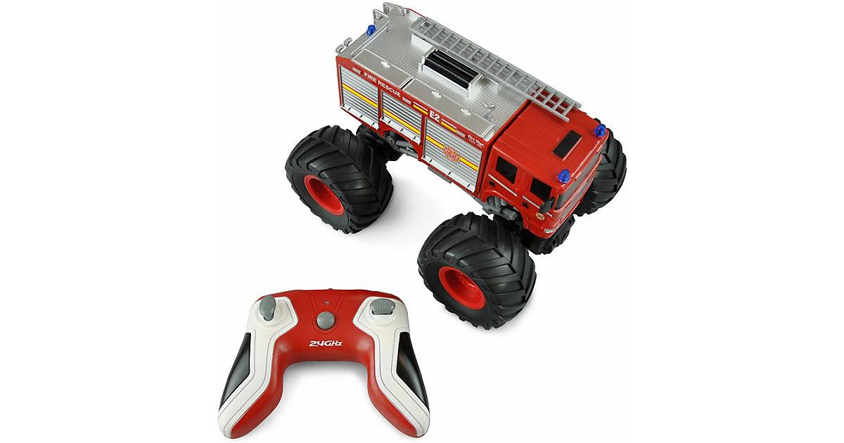 Monster Feuerwehr Truck 1:18, RTR rot mit LED Beleuchtung & Sound