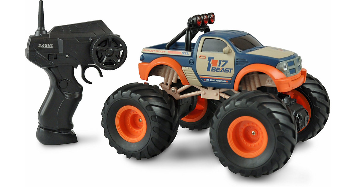 Big Buster Monstertruck 1:18, RTR, 2,4GHZ, orange/blau blau/orange