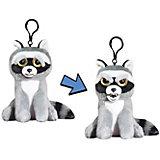 Мягкая игрушка-брелок Feisty Pets Енот, 11 см