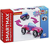 """Магнитный конструктор Bondibon SmartMax """"Специальный набор"""" Розовый и фиолетовый, 5 деталей"""