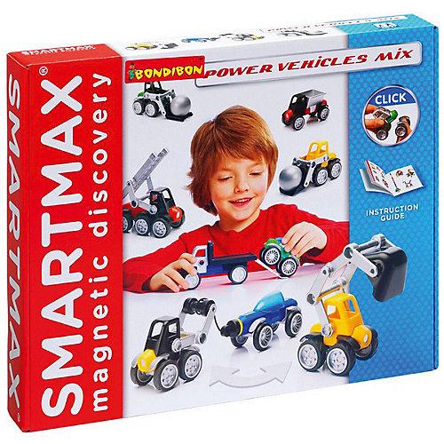 """Магнитный конструктор Bondibon SmartMax """"Специальный набор"""" Мощная техника от Bondibon"""