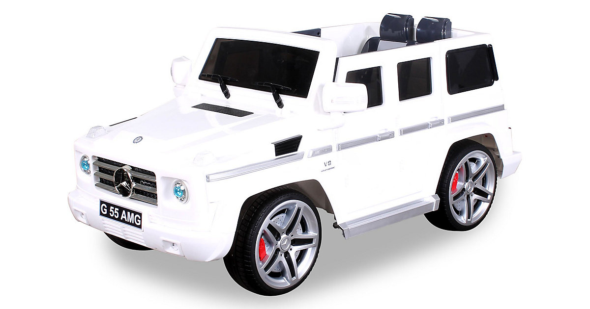 Kinder Elektroauto Mercedes AMG G55 Lizenziert weiß