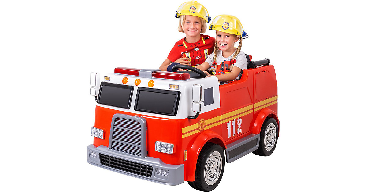 Kinder Elektroauto Feuerwehr LL911 rot