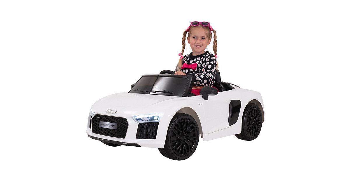 Kinder Elektroauto Audi R8 4S Spyder Lizenziert weiß