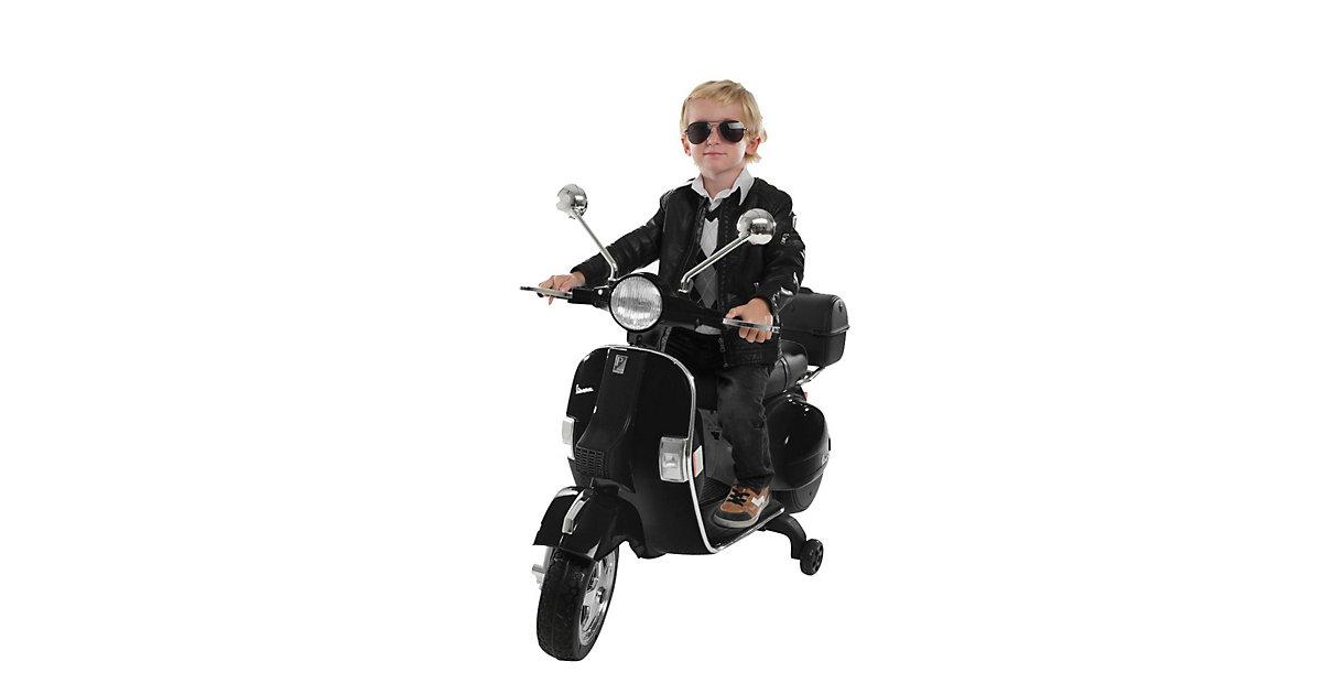 Kinder Elektroroller Vespa PX150 Lizenziert schwarz