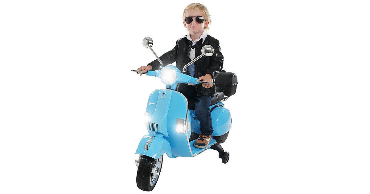 Kinder Elektroroller Vespa PX150 Lizenziert blau