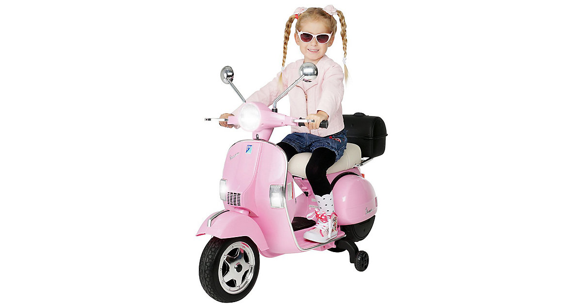 Kinder Elektroroller Vespa PX150 Lizenziert pink