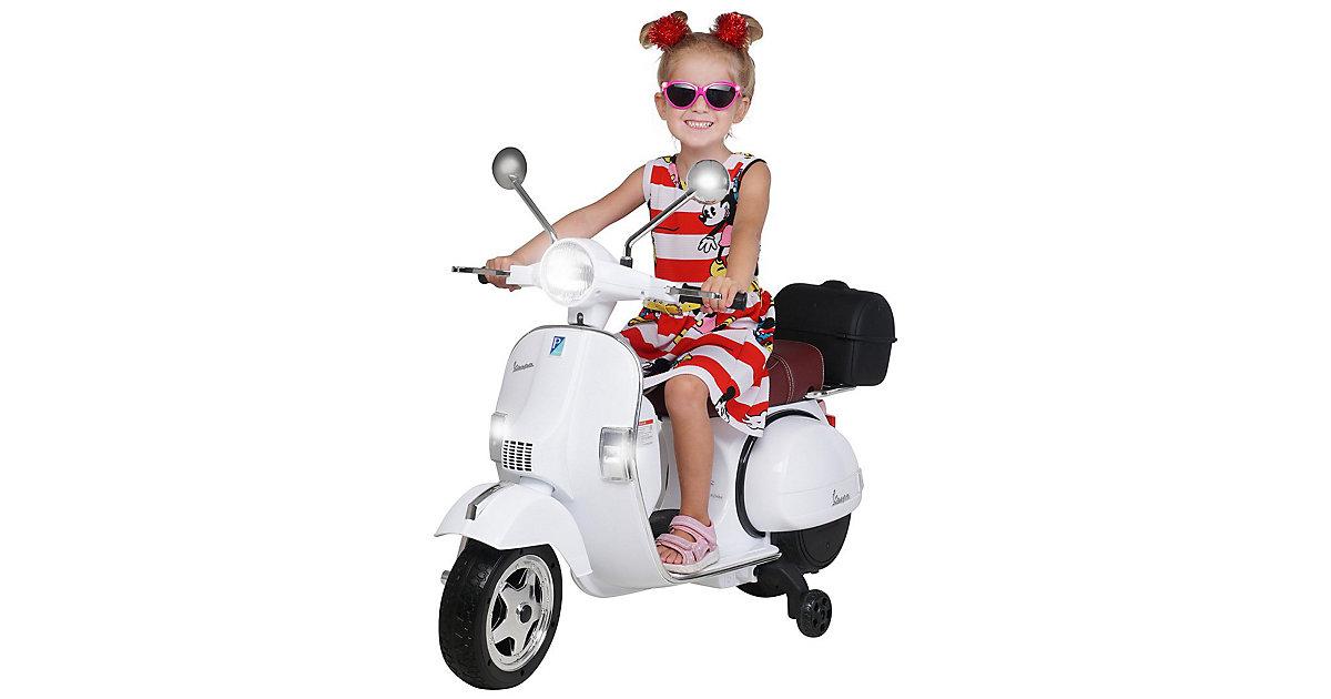 Kinder Elektroroller Vespa PX150 Lizenziert weiß