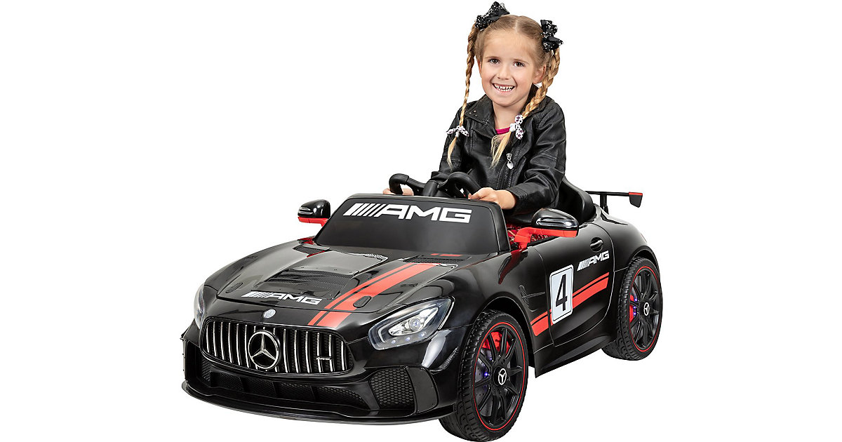 Kinder Elektroauto Mercedes AMG GT4 Sport Edition Lizenziert schwarz