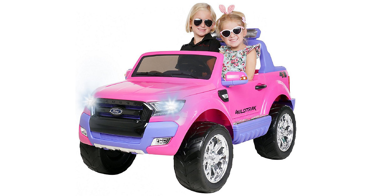 Kinder Elektroauto Ford Ranger Wildtrak Allrad Lizenziert pink