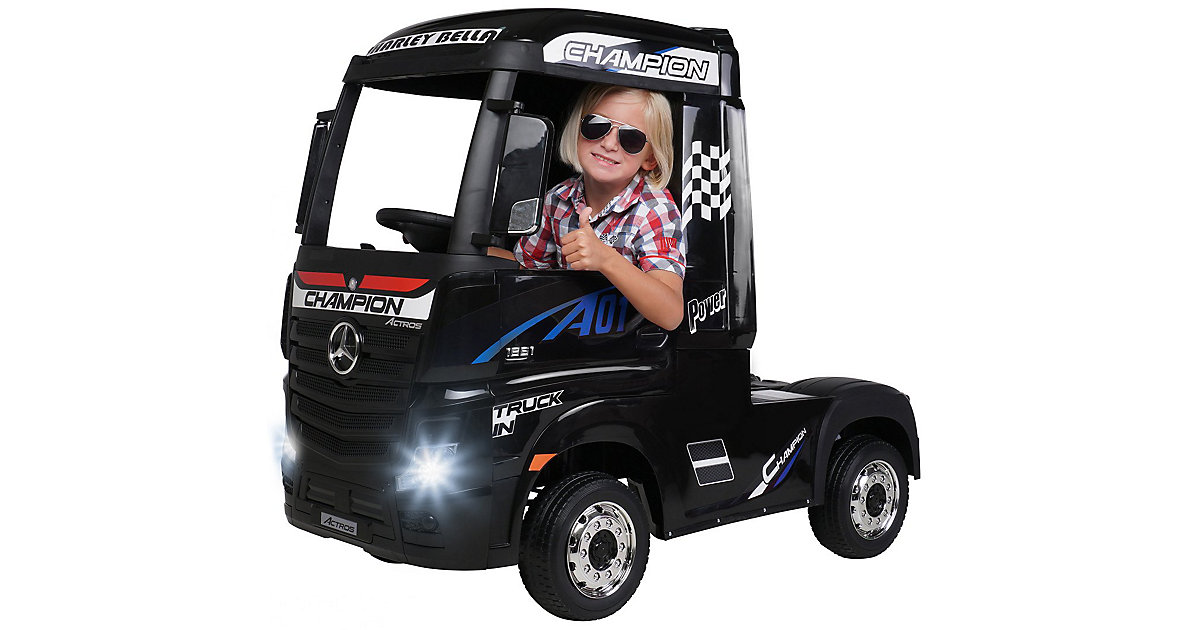 Kinder Elektroauto Mercedes Benz Actros Truck Lizenziert schwarz