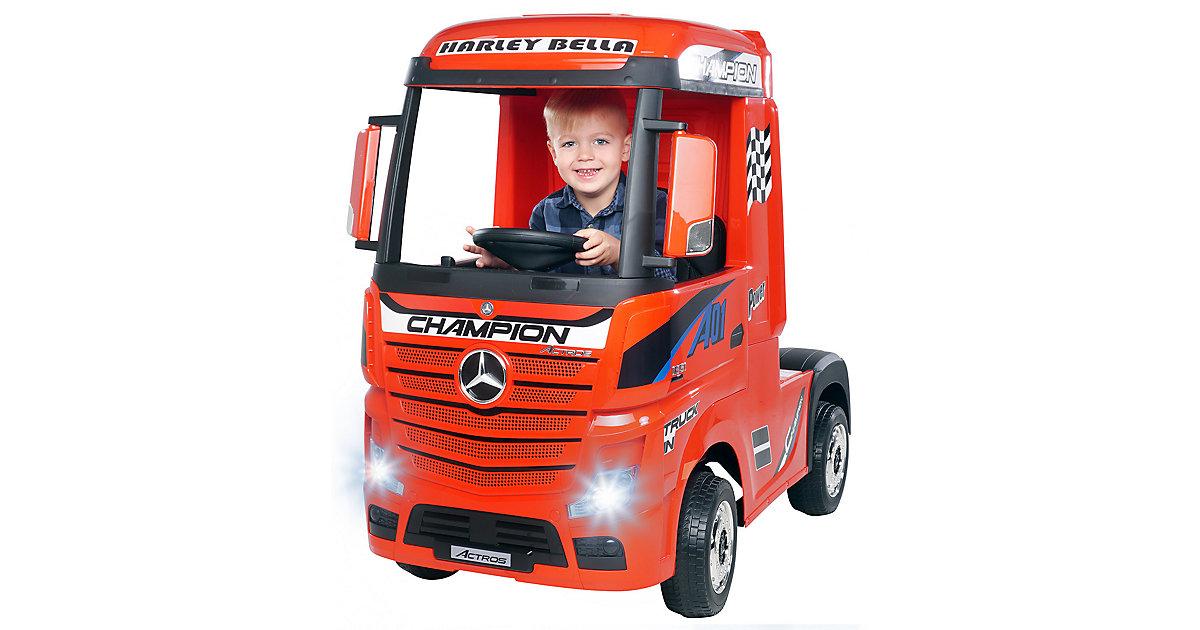 Kinder Elektroauto Mercedes Benz Actros Truck Lizenziert rot