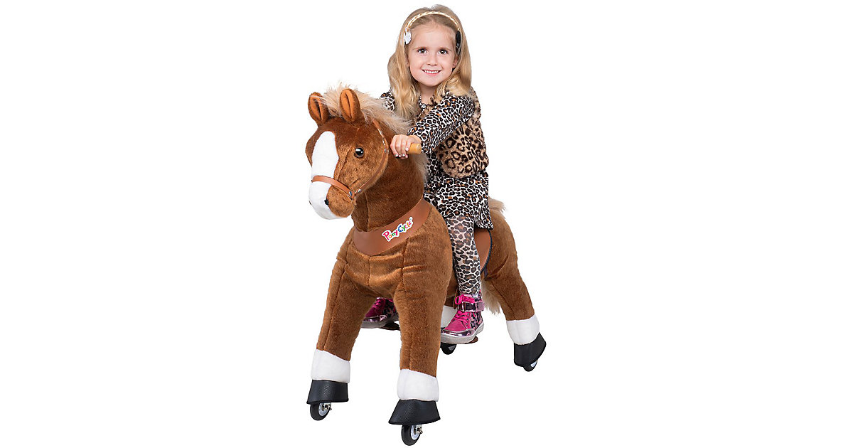 Kinder Reittiere  Amadeus Pferd small braun