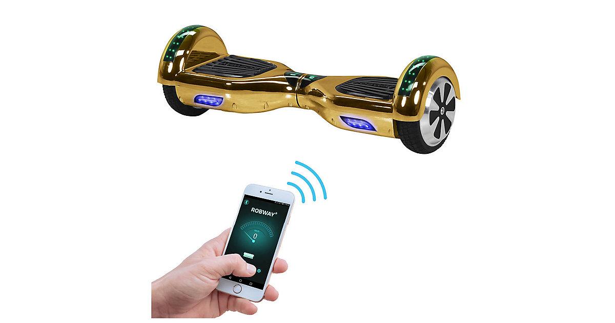 Kinder Elektrofahrzeuge E-Balance Hoverboard ROBWAY W1 gold