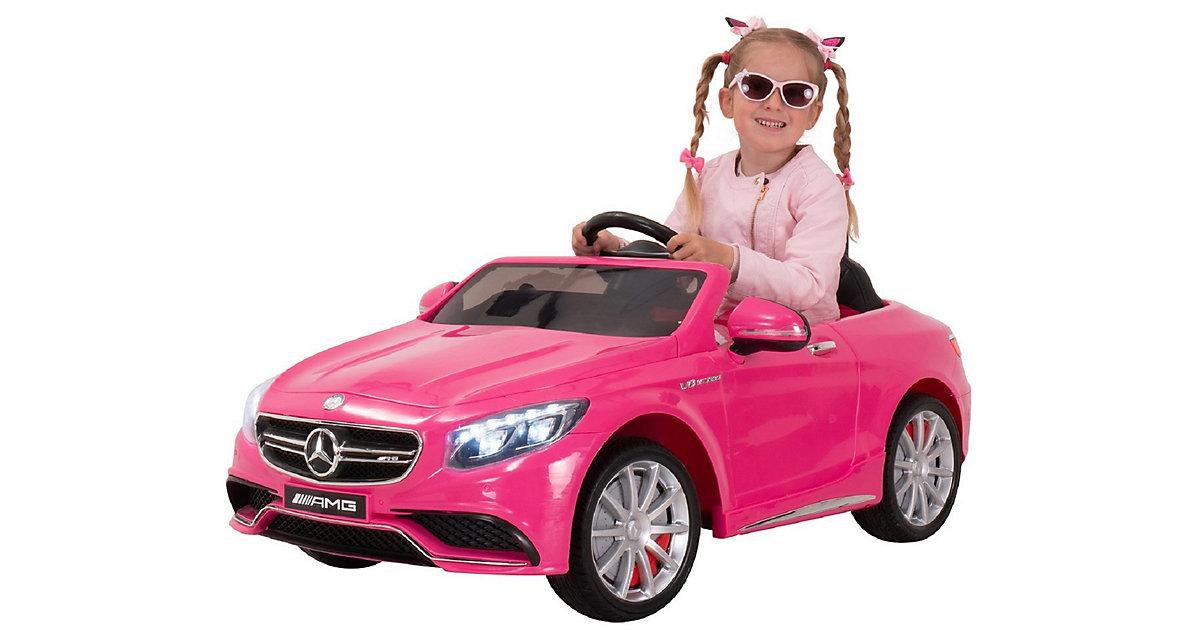 Kinder Elektroauto Mercedes-Benz AMG S63 Lizenziert pink