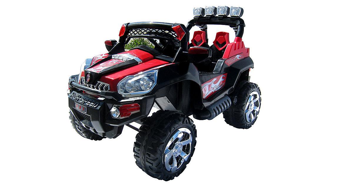 Kinder Elektroauto Jeep 801 schwarz/rot