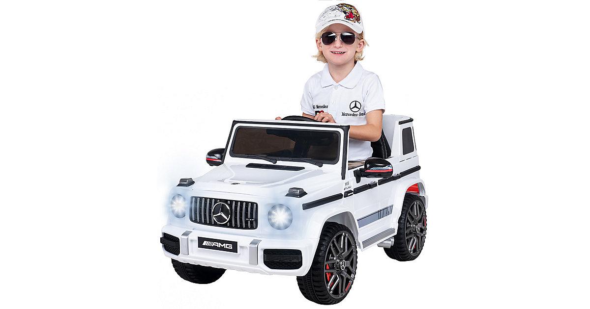 Kinder Elektroauto Mercedes AMG G63 W 463 Lizenziert weiß
