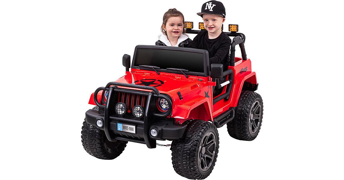 Kinder Elektroauto Wrangler Offroad Jeep rot