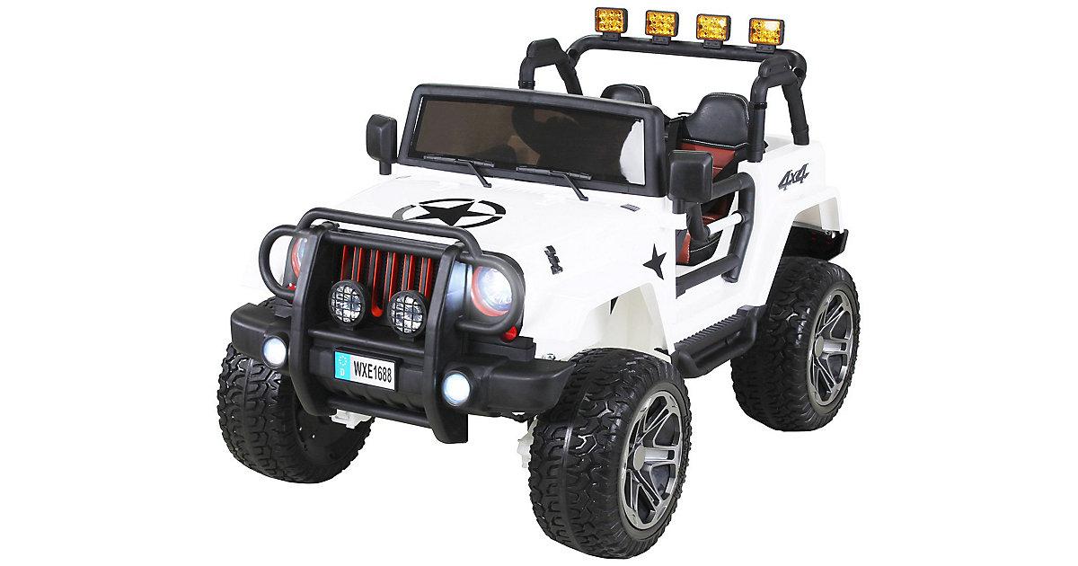 Kinder Elektroauto Wrangler Offroad Jeep weiß