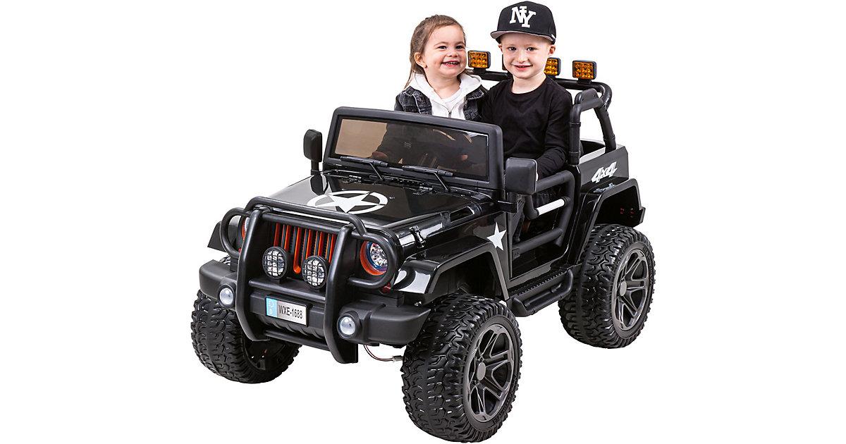 Kinder Elektroauto Wrangler Offroad Jeep schwarz