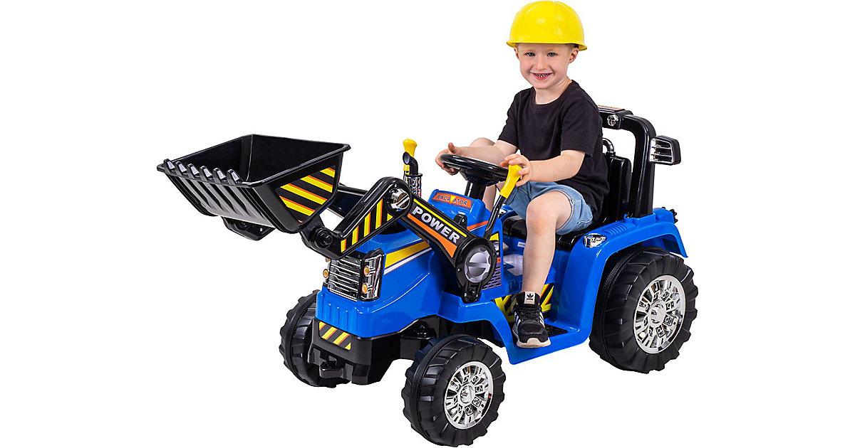 Kinder Elektroauto Bagger ZP1005 blau