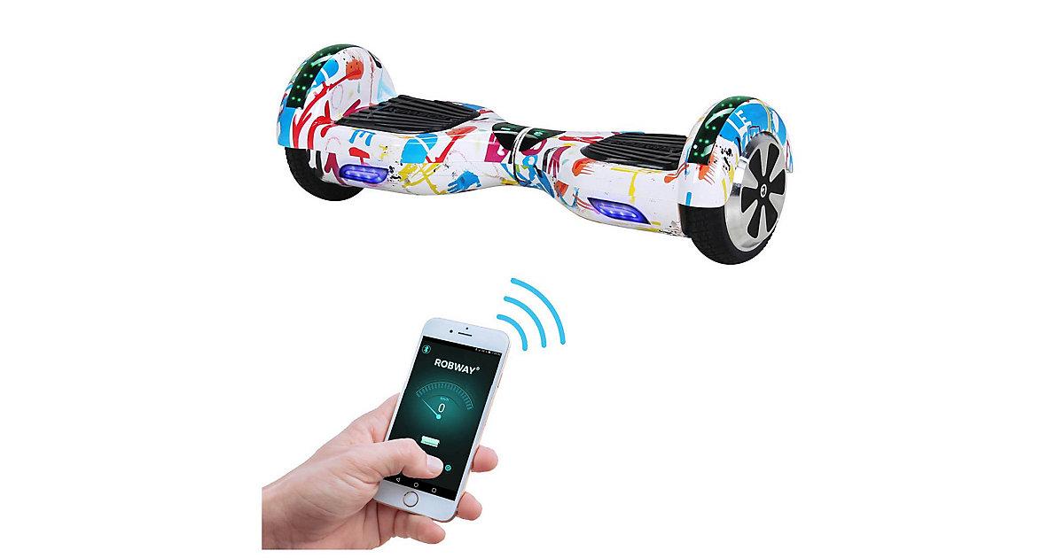 Kinder Elektrofahrzeuge E-Balance Hoverboard ROBWAY W1 weiß-kombi