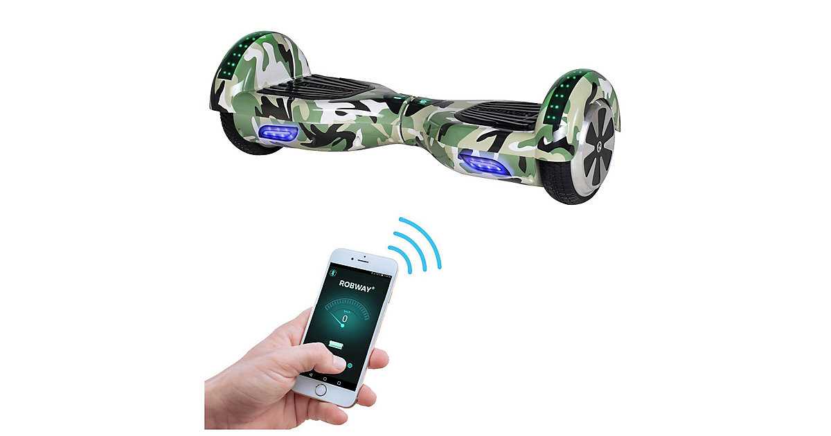 Kinder Elektrofahrzeuge E-Balance Hoverboard ROBWAY W1 grün-kombi