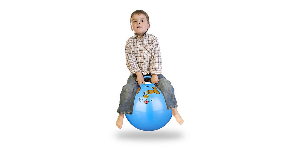 1 x Hüpfball Skippy Ball Jumping Ball Sprungball Hopser Springball 45 cm blau