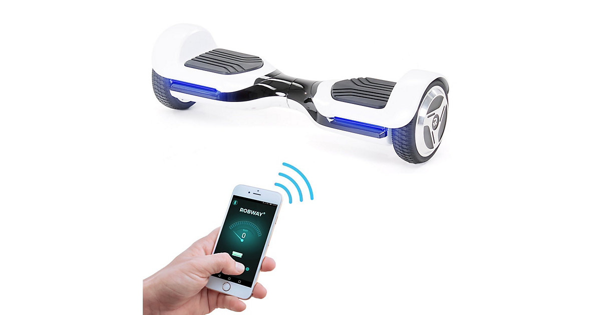 Kinder Elektrofahrzeuge E-Balance Hoverboard ROBWAY RG1 schwarz/weiß