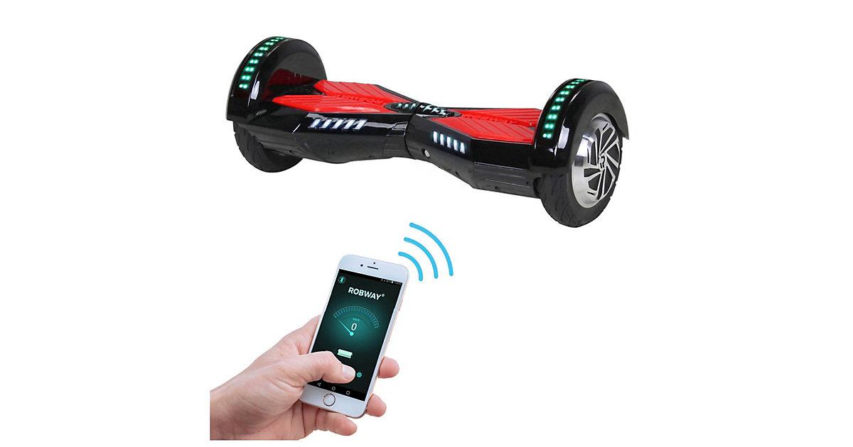 Kinder Elektrofahrzeuge E-Balance Hoverboard ROBWAY W2 schwarz/rot