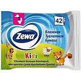 Детская влажная туалетная бумага Zewa, 42 шт
