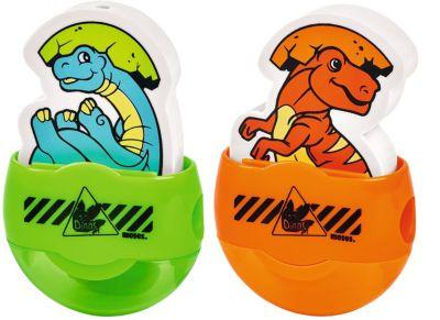 2-in-1-Radierer Dino-Baby orange