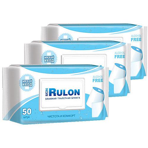 Влажная туалетная бумага Авангард Mon Rulon № 50, 3 шт