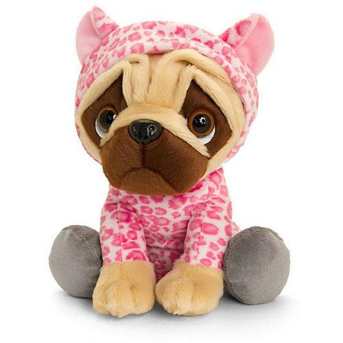 Мягкая игрушка Keel toys Pugsley Мопс в наряде розового леопарда, 22 см от Keel Toys