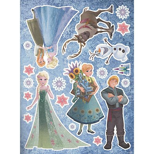 """Развивающая книжка с многоразовыми наклейками и постером """"Холодное сердце"""" от ИД Лев"""