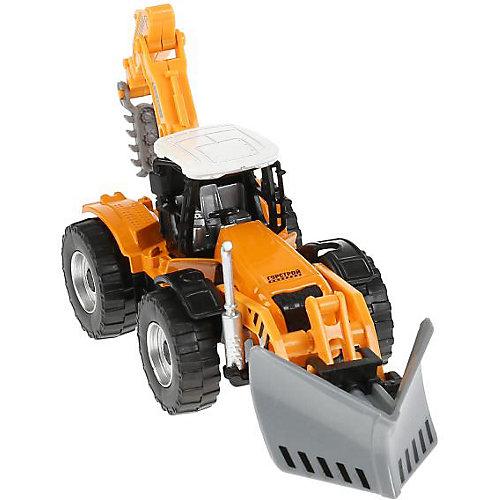 Машина Технопарк «Трактор с прицепом», трактор с открытым кузовом от ТЕХНОПАРК