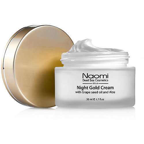Ночной золотой крем Naomi с маслом косточек винограда и алоэ, 50 мл