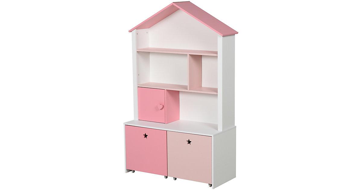 Kinderregal mit Schubladen rosa