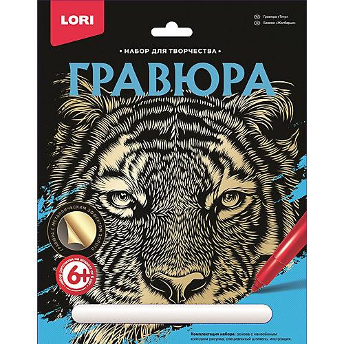 """Набор для творчества Lori """"Гравюра большая"""" Тигр от LORI"""